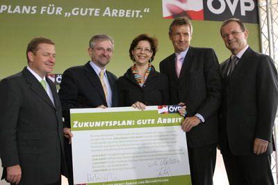 Foto von Amon, Molterer, Marek, Bartenstein und Kopf