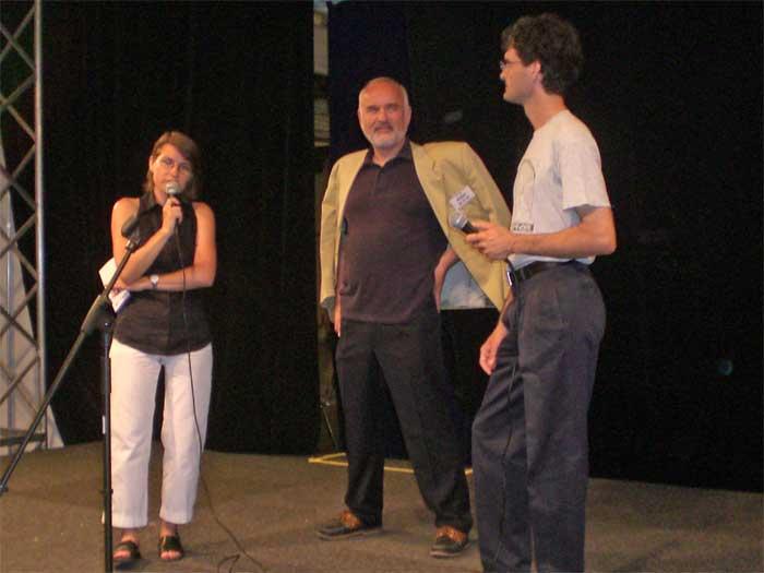 Photo von Gerda Ruppi-Lang, Peter Adler und Antone Hauska auf der Baby-Expo am 9.6.2007